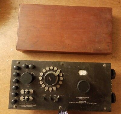 Antique Leeds And Northrup Hydrogen Ion Potentiometer 7665 Wood Base Made In Usa