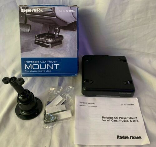 Radio Shack Portable CD Player Mount For Automotive Use Car Holder RARE 42-3050A