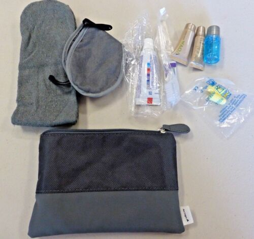 Are Lingus 1st Class Gray Amenity Bag NEW
