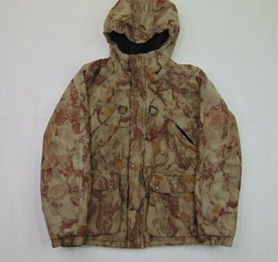 Woolrich Boys L Full Zip Camouflage Hunting Jacket Quilt Lined Brown Hooded