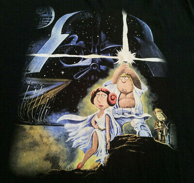 Family Guy Star Wars T Shirt XL X-Large - Star Wars Green Guy