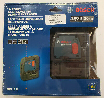 NEW - Bosch GPL 3 R Professional 3-Point Alignment Self Leveling Laser Level
