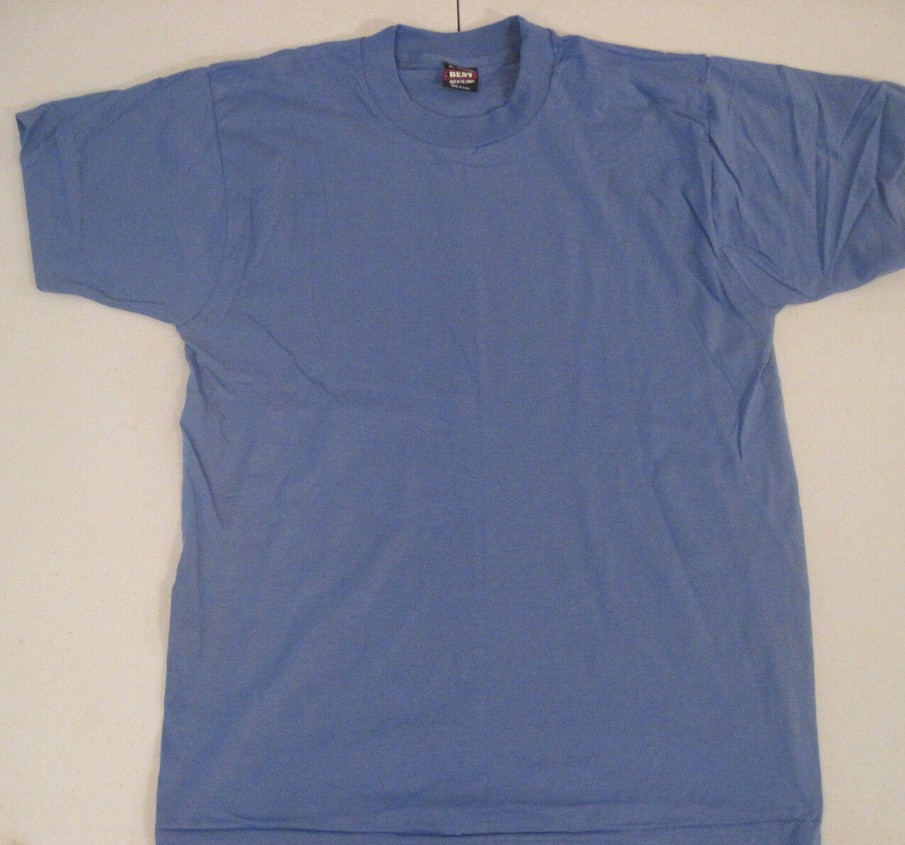 Vintage Fruit Of The Loom Best T-Shirt Blank Size Large Blue