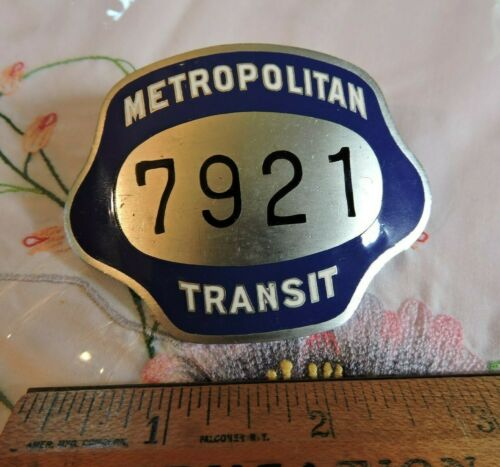 1940s - 50s Boston Subway Metropolitan Transit Train Trolley Badge Massachusetts