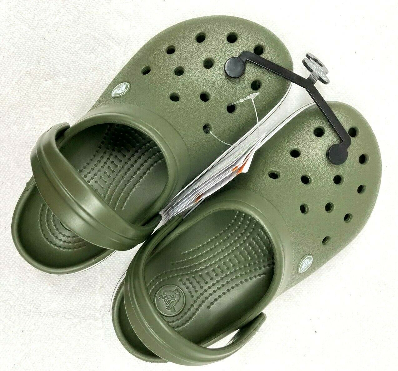 Crocs Crocband Clog/Slip on Casual Water shoes Army Green/Wh