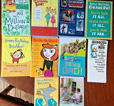 Birthday Cards In Bulk (Family Assortment 10 FUNNY BIRTHDAY Cards
