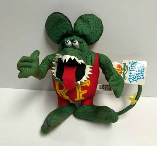 """Big Daddy Roth 12"""" Rat Fink Moon Eyes Plush Figure Toy ~ Brand new with Tags"""