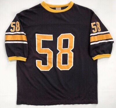 Vintage 70s 80s Pittsburgh Steelers Jersey Jack Lambert Size Medium Shirt NFL for sale  Shipping to Canada
