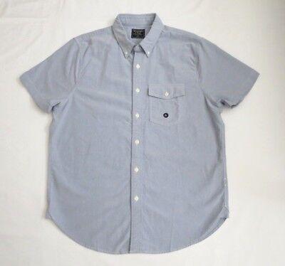 Nwt Abercrombie Hombre Manga Corta Botón Abajo Camisa Oxford Talla XL Azul
