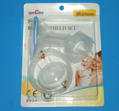 Spectra Wide Breast Shield Set Med 24 mm NEW 0434