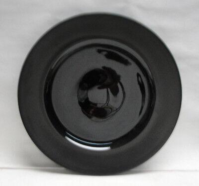 "ROSENTHAL China - VARIATIONS Pattern by Tapio Wirkkala - 11"" BLACK SERVICE PLATE"