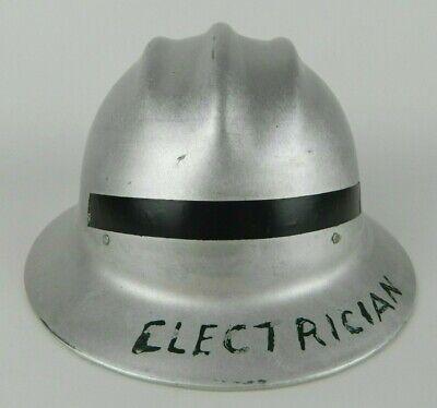 Vintage E.d. Bullard Hard Boiled Aluminum Hard Hat W Liner Electrician Sparks