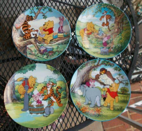 4 Disney Winnie the Pooh Bradford Exchange Plates. All Different. VGC