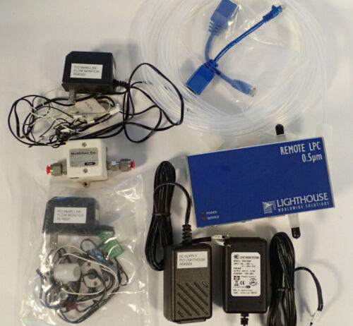 LIGHTHOUSE REMOTE LPC LIQUID PARTICLE COUNTER 0.5 MICRON & McMILLAN 107 FLO-SEN