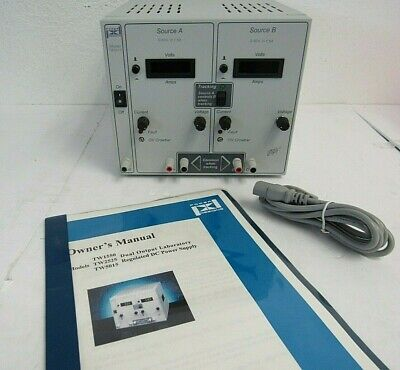 Power Designs Tw-5015 Dual Output Laboratory Regulated Dc Power Supply 67-4