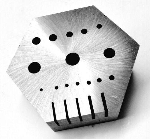 Hexagonal Riveting Anvil Multi-Functional Bench LARGE Hex Steel Block Drilling