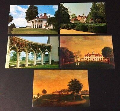 5 Mount Vernon Mansion Washington's Home Unused Vintage Postcards