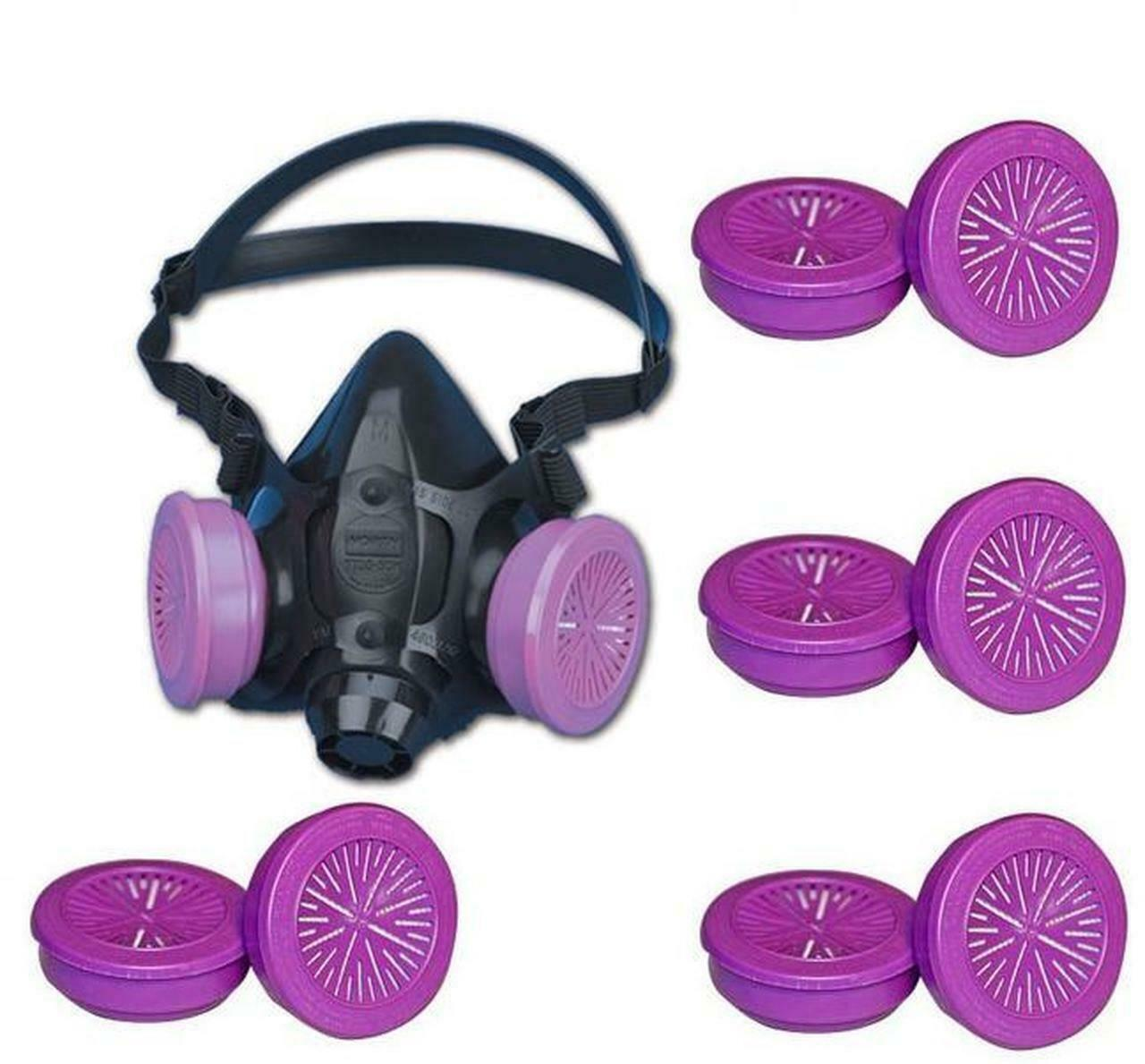 North 7700 Series Half Face Respirator, 7700-30L W/ 4 PR. 7580P1OO, Size: LARGE Business & Industrial