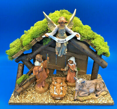 """Fontanini by Roman Inc 5 Piece Nativity Set with Lighted Creche 5"""" Scale Figures"""