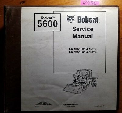 Bobcat 5600 Toolcat Sn A00211001- A00311001- Service Manual 6904209 306