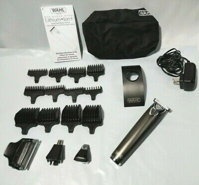 Wahl Stainless Steel Lithium Ion 2.0+ Beard Trimmer Shaver 9864 SS2L (Wahl 9864 Slate Stainless Steel Mens Trimmer)