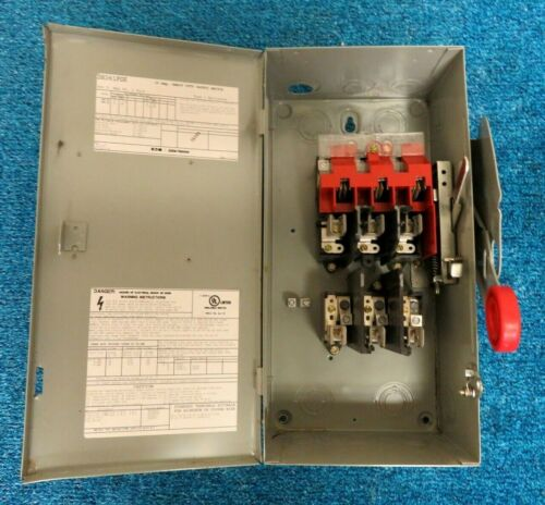 Eaton Cutler Hammer DH361FGK 30A 600V Fused Type 1 Disconnect Switch
