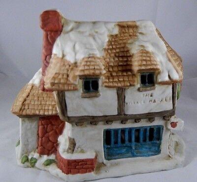 Studio Five Bisque Porcelain Village Market Christmas House Structure