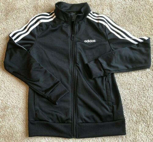 NWT Women Adidas Essentials 3-Stripes Tricot Track Jacket Black/White S DP2406