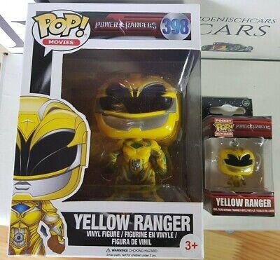 Power Ranger Funko Pop 398+ Schlüsselanhänger 2er Set  Vinyl Figur #1 ()