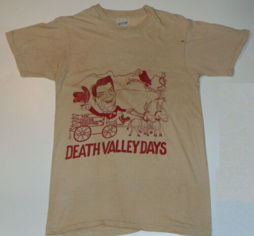 VINTAGE 1984 DNC DEMOCRATIC NATIONAL CONVENTION T-SHIRT MOCKING PRESIDENT REAGAN