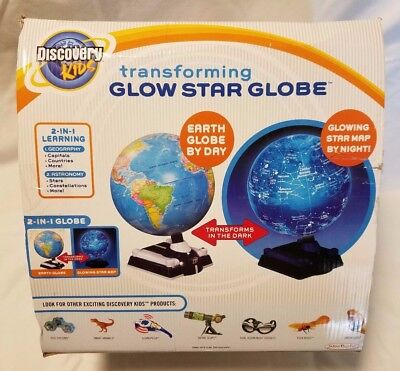 Discovery Kids Transforming Glow Star Globe Constellation Geography Educational