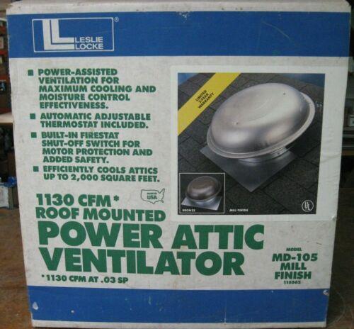 Leslie Locke roof mounted power attic ventilator fan 1130 CFM