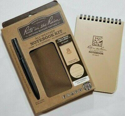 Rite In The Rain 973-kit All-weather Universal Spiral Notebook Kit Greentan