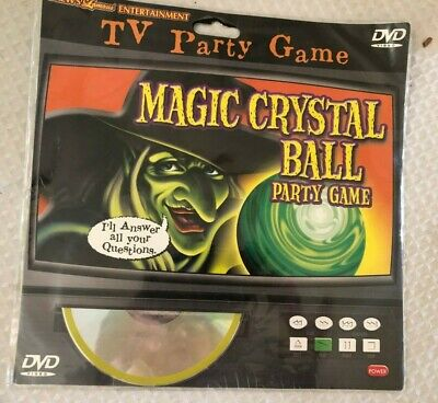 CRYSTAL BALL: VIRTUAL WITCH HALLOWEEN TV PARTY GAME DVD (Halloween-tv)