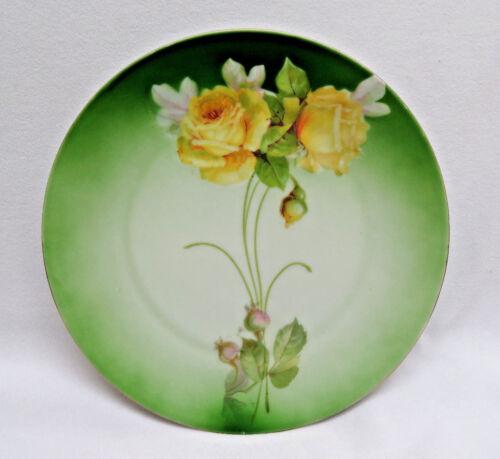 Vintage Bavaria German Yellow Roses Plate