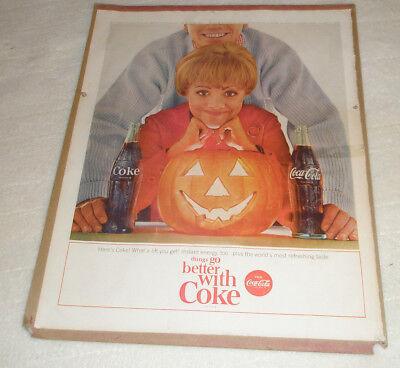 Vintage HALLOWEEN COCA COLA Ad 1964 Magazine - Coca Cola Halloween