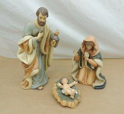 HERITAGE 3 PC PORCELAIN NATIVITY SET JOSEPH MARY BABY JESUS FIGURES