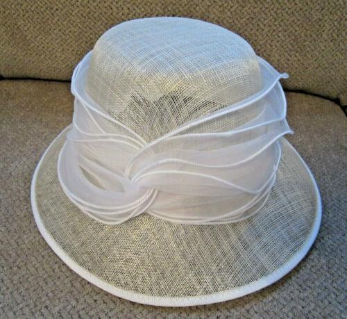 Antonio Melani ivory hat church, derby, dress, wedding  or Easter