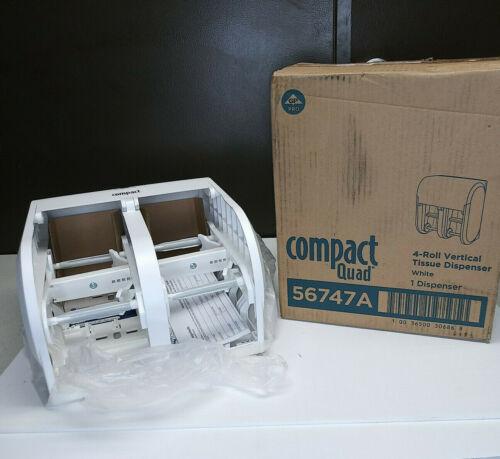 Compact 4-Roll Quad Coreless High-Capacity Toilet Paper Rolls Dispenser - 56747A