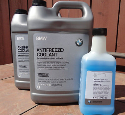 2 Gallon BMW OEM ANTIFREEZE COOLANT 82141467704 W/Free windshield washer