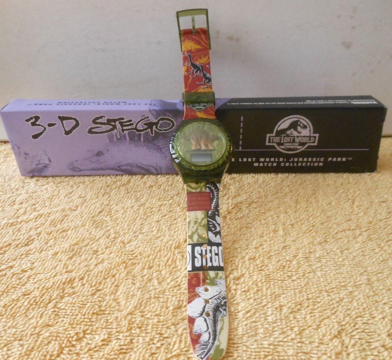 THE LOST WORLD: JURASSIC PARK WATCH COLLECTION 1997 BURGER KING 3-D STEGO