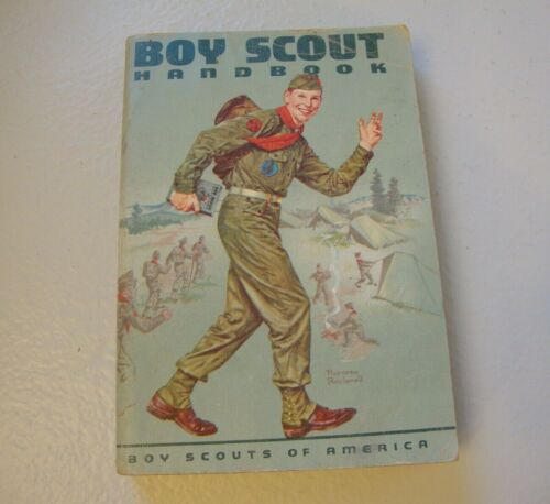 Vintage 1965 Boy Scout Handbook BSA Good Condition Norman Rockwell