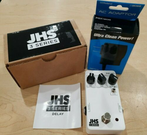 JSH 3 Series Delay Pedal w/ Boss Adapter *Pre-owned Free Shipping