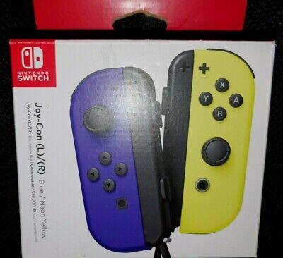 Nintendo Switch Blue & Neon Yellow Joy-Con Wireless L/R Controllers  OPEN BOX