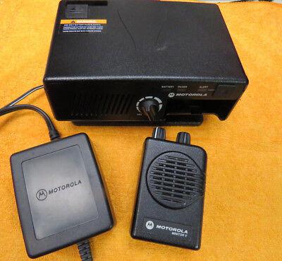 Motorola Minitor V Pager 47.125 Mhz 1-freq Nsv W Rln5869c Amplified Base
