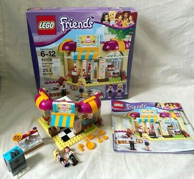 LEGO Friends 41006 Downtown Bakery 100% Complete w/ Manual and Box