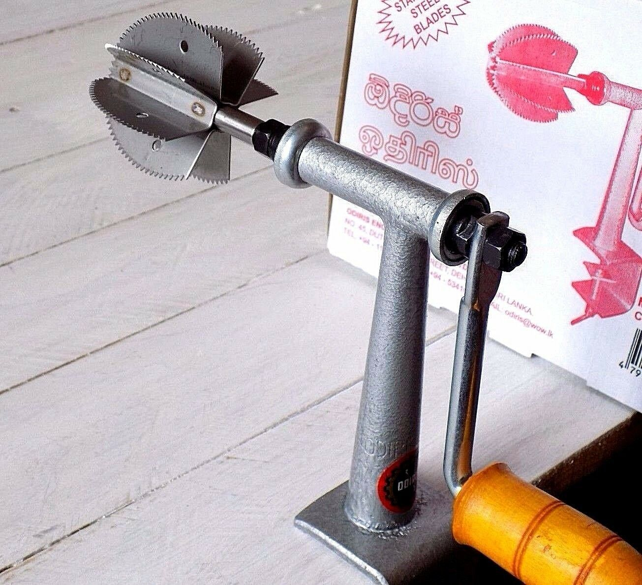 Coconut Scraper Ordiris Coconut grater , stainless steel blade UK Seller