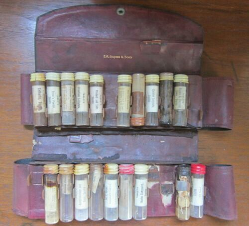 ER Squibb Doctor Travel Kit Apothecary Pharmacy Bottles Morphin Poison Narcotic