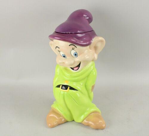 """Vintage Treasure Craft Disney Snow White & the Seven Dwarfs Dopey Cookie Jar 15"""""""