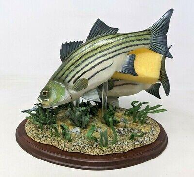 Danbury Mint Stripers Eating Minnows Bass Fish George Kruth COA Sculpture KS21